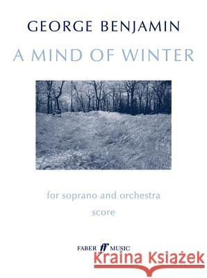 A Mind of Winter: Full Score  9780571511624 Faber Music Ltd - książka