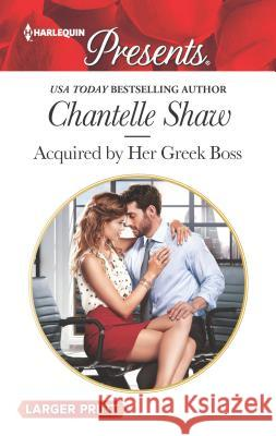 Acquired by Her Greek Boss Chantelle Shaw 9780373213160 Harlequin - książka