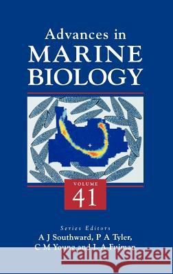 Advances in Marine Biology Alan J. Southward Paul Tyler Craig M. Young 9780120261413 Academic Press - książka