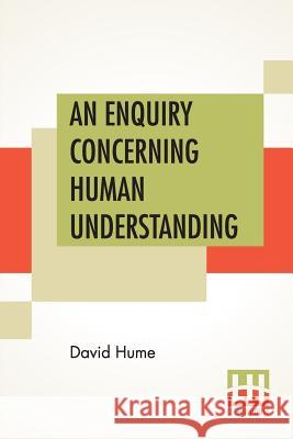 An Enquiry Concerning Human Understanding David Hume 9789353422868 Lector House - książka