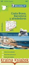Barcelona y Alrededores Costa Brava Zoom Map 147  0 9782067218192 Michelin Zoom Maps