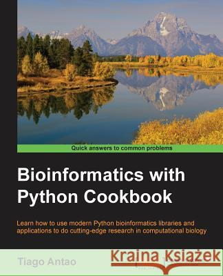 Bioinformatics with Python Cookbook  9781782175117  - książka
