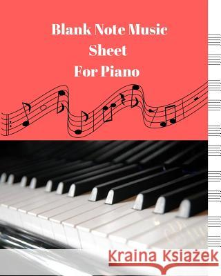 Blank Sheet Music for Piano Man Galaxy 9781542312776 Createspace Independent Publishing Platform - książka