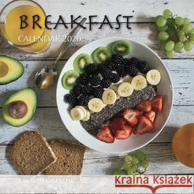 Breakfast Calendar 2020: 16 Month Calendar Golden Print 9781688616509 Independently Published - książka