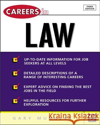 Careers in Law Gary A. Munneke 9780071411455 McGraw-Hill Companies - książka
