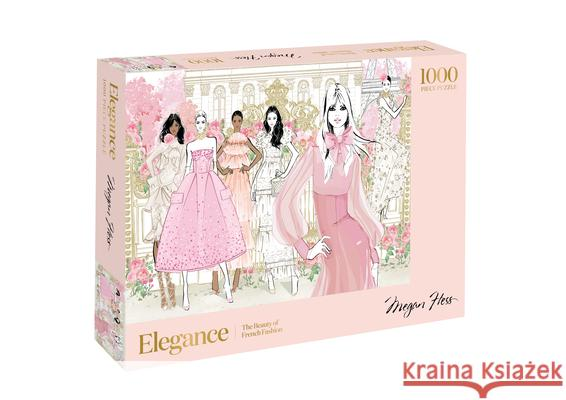 Elegance: 1000 Piece Puzzle: The Beauty of French Fashion Megan Hess 9781743797167 Hardie Grant Books - książka