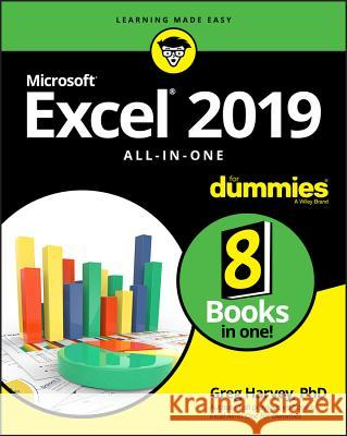 Excel 2019 All-In-One for Dummies Greg Harvey 9781119517948 For Dummies - książka