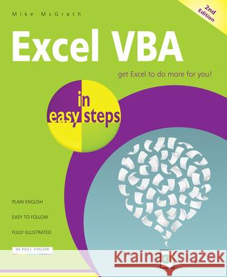 Excel VBA in Easy Steps Mike McGrath 9781840787375 In Easy Steps - książka