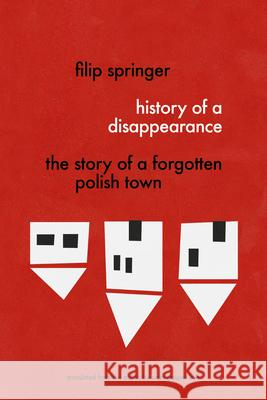 History of a Disappearance: The Story of a Forgotten Polish Town Filip Springer Sean Bye 9781632061157 Restless Books - książka