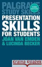 Presentation Skills for Students Joan Va Lucinda Becker 9781137576491 Palgrave MacMillan