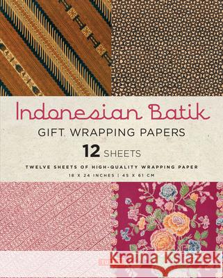 Indonesian Batik Gift Wrapping Papers: 12 Sheets of High-Quality 18 X 24 Inch Wrapping Paper Periplus Editors 9780804846332 Tuttle Publishing - książka