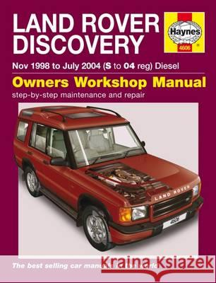 Land Rover Discovery Service and Repair Manual   9780857339515 Haynes Service and Repair Manuals - książka