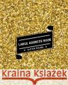 Large Address Book Glitter Feeling: The Best Solution for Senior to Organize the Contacts & Addresses - (Size 8x10 Inches) - With Gold Shining Glitter