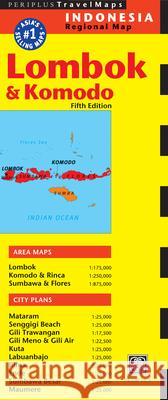 Lombok & Komodo Travel Map Fifth Edition Periplus Editors 9780794607388 Periplus Editions - książka