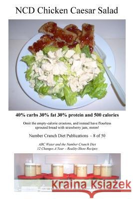 Ncd Chicken Caesar Salad: 40% Carbs 30% Fat 30% Protein and 500 Calories Number Crunch Diet Publications 9781536970388 Createspace Independent Publishing Platform - książka