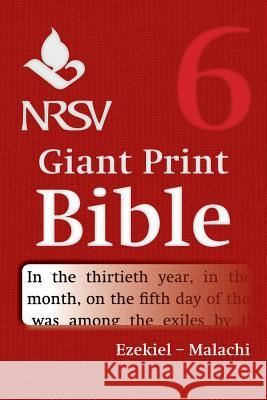 NRSV Giant Print Bible: Volume 6, Ezekiel Malachi Bible 9781316602218 Cambridge University Press - ksi��ka