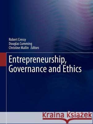 Entrepreneurship, Governance and Ethics