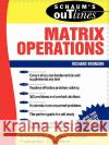Schaum's Outline of Matrix Operations Richard Bronson 9780070079786 McGraw-Hill Companies