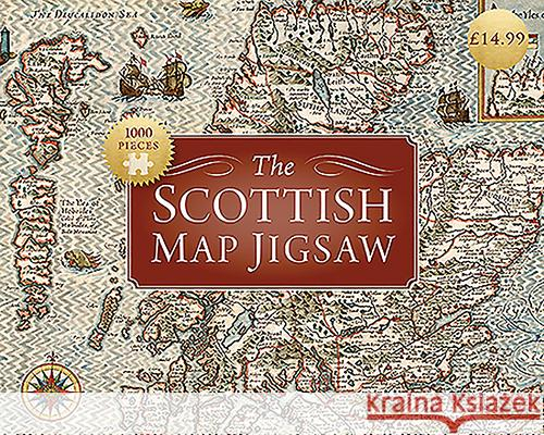 SCOTTISH MAP JIGSAW  5055339500023 BIRLINN - książka