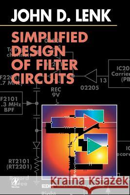 Simplified Design of Filter Circuits John D. Lenk Lenk 9780750696555 Newnes - książka