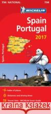 Spain & Portugal 2017 National Map 734  0 9782067218956 Michelin National Maps