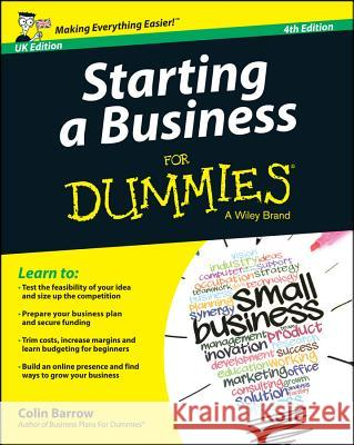 Starting a Business for Dummies - UK Barrow, Colin 9781118837344 John Wiley & Sons - książka