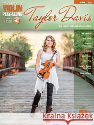 Taylor Davis: Violin Play-Along Volume 37 Taylor Davis 9781495071058 Hal Leonard Publishing Corporation - książka