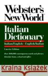 Websters New World Italian Dictionary, Concise Edition