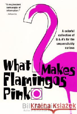 What Makes Flamingos Pink?: A Colorful Collection of Q & A's for the Unquenchably Curious Bill McLain 9780060000240 HarperResource - książka