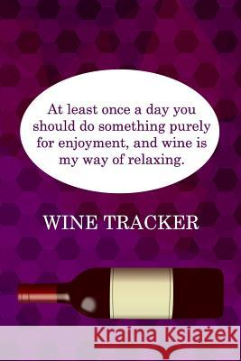 Wine Tracker: Wine Is My Way Of Relaxing MM Win 9781082271649 Independently Published - książka