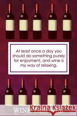 Wine Tracker: Wine Is My Way Of Relaxing MM Win 9781082271830 Independently Published - książka
